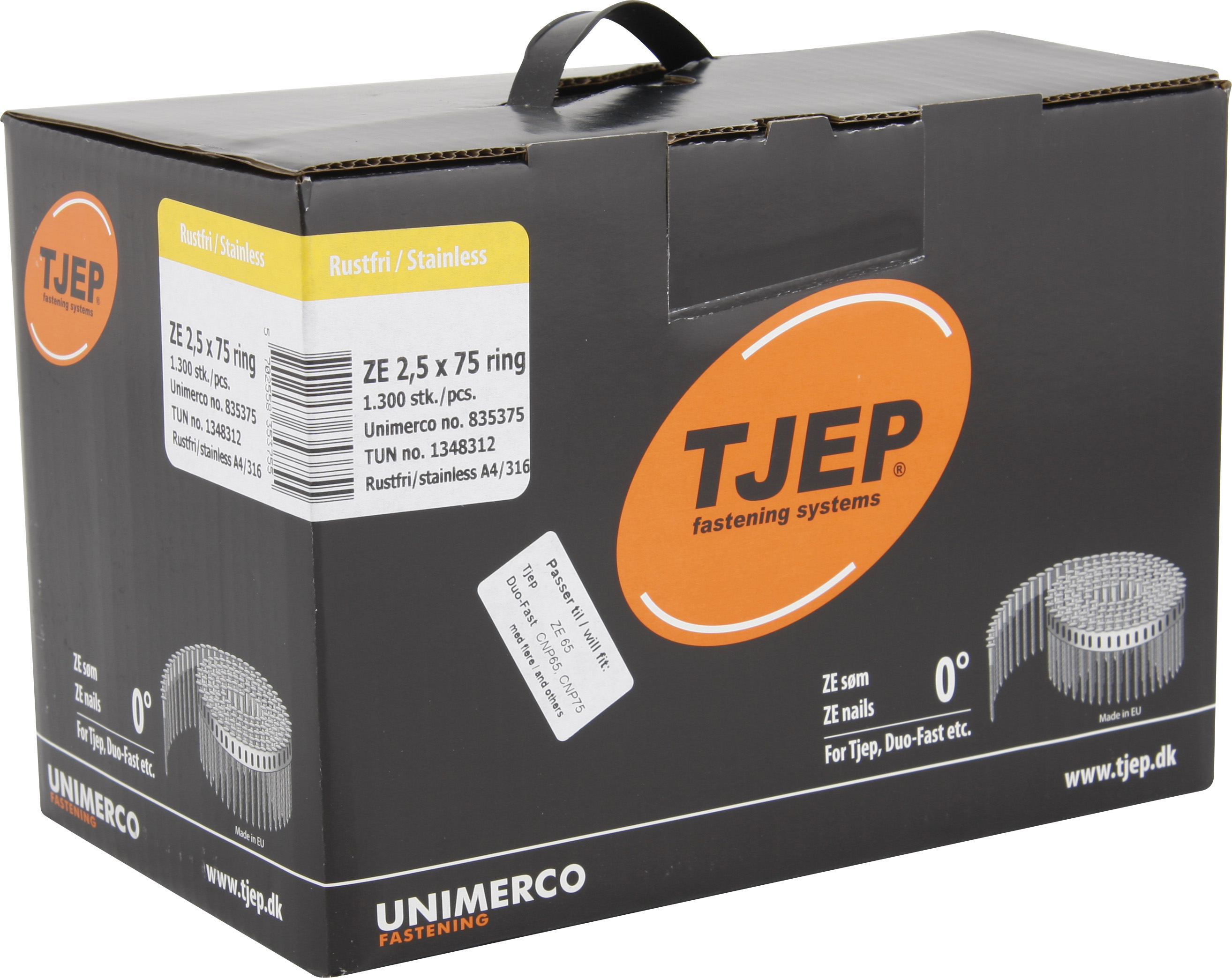 TJEP MX 21//50 Rillennägel Rostfrei A4